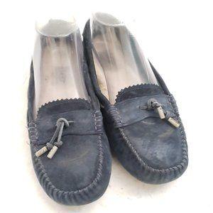 💙 UGG Blue Suede Moccasins Size 7 💙